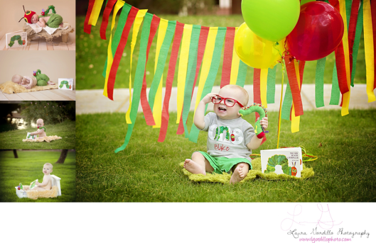 1 year session, baby photography, photographer, phoenix, az, hungry caterpillar theme, outdoors